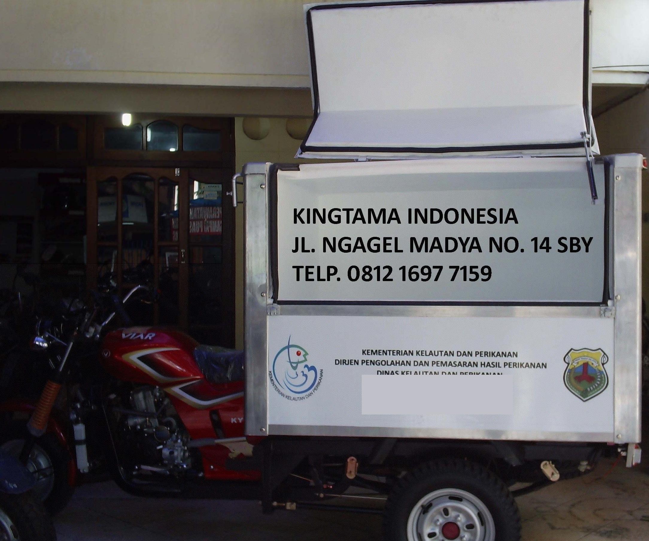 motor gerobak ikan box es