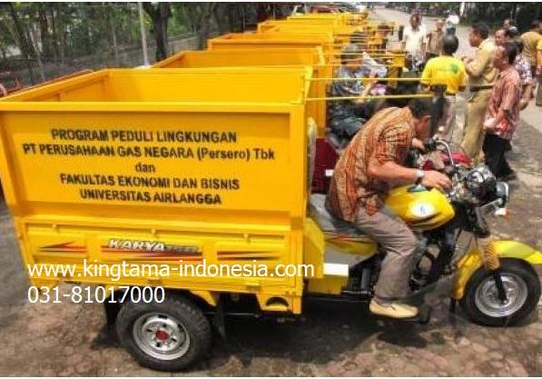 motor roda tiga bak sampah project
